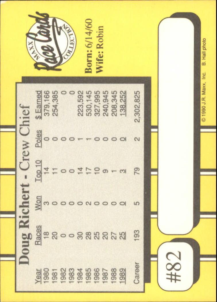 1990-Maxx-Auto-Racing-Cards-1-200-Rookies-A2695-You-Pick-10-FREE-SHIP thumbnail 165