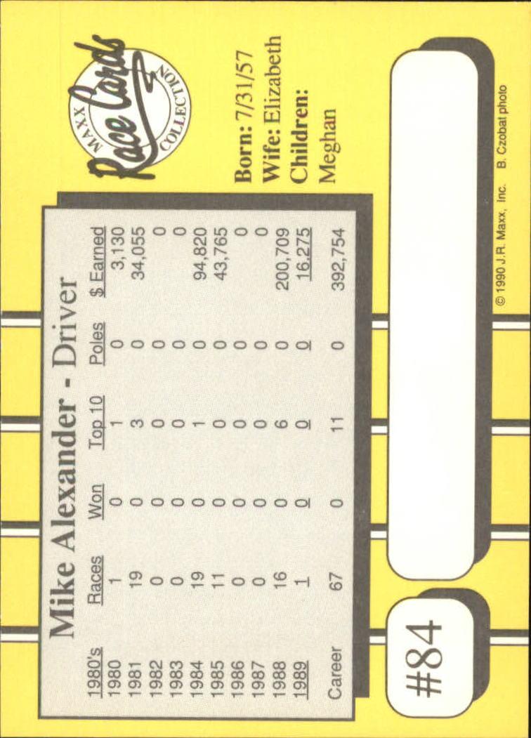 1990-Maxx-Auto-Racing-Cards-1-200-Rookies-A2695-You-Pick-10-FREE-SHIP thumbnail 169