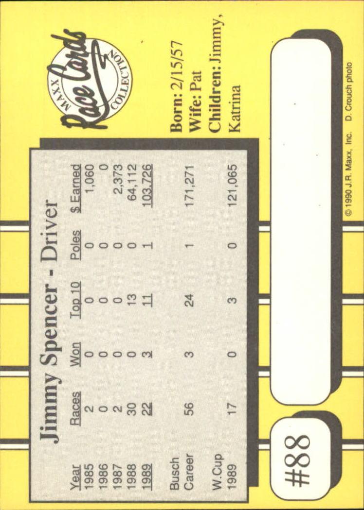 1990-Maxx-Auto-Racing-Cards-1-200-Rookies-A2695-You-Pick-10-FREE-SHIP thumbnail 177