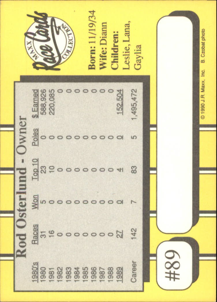 1990-Maxx-Auto-Racing-Cards-1-200-Rookies-A2695-You-Pick-10-FREE-SHIP thumbnail 179