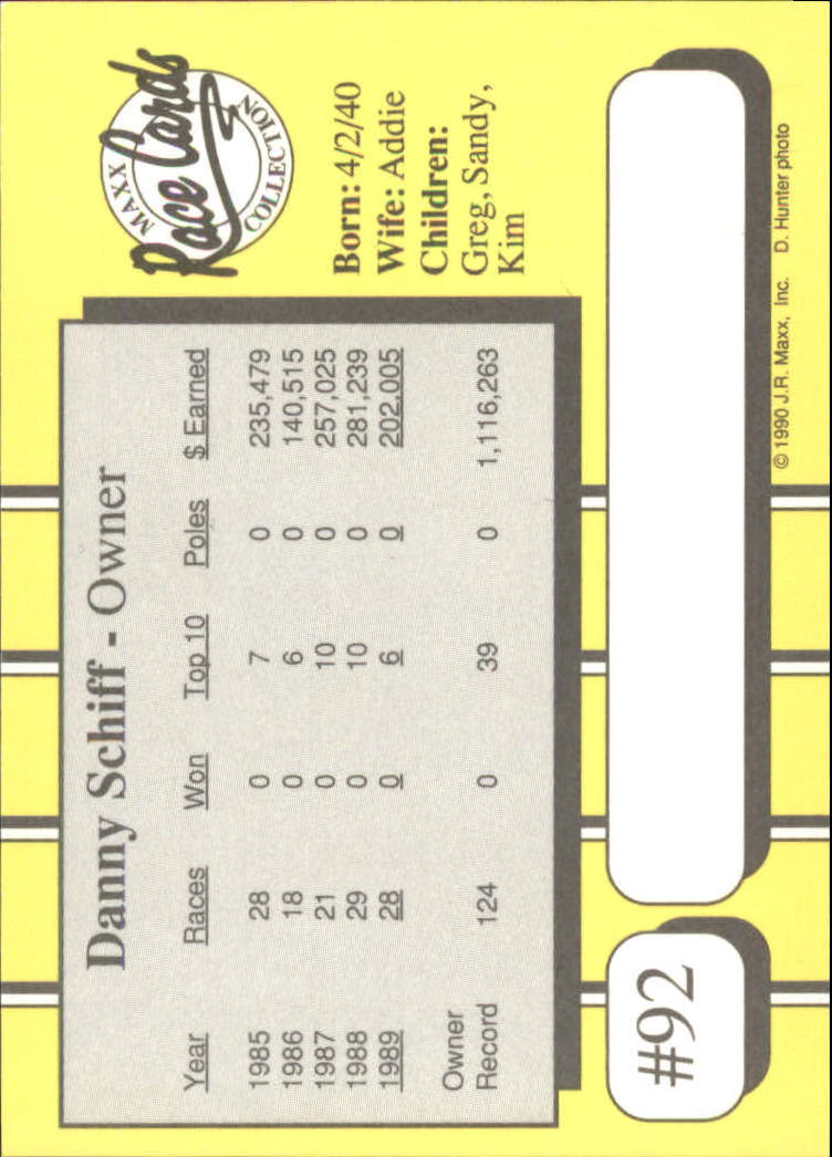 1990-Maxx-Auto-Racing-Cards-1-200-Rookies-A2695-You-Pick-10-FREE-SHIP thumbnail 185