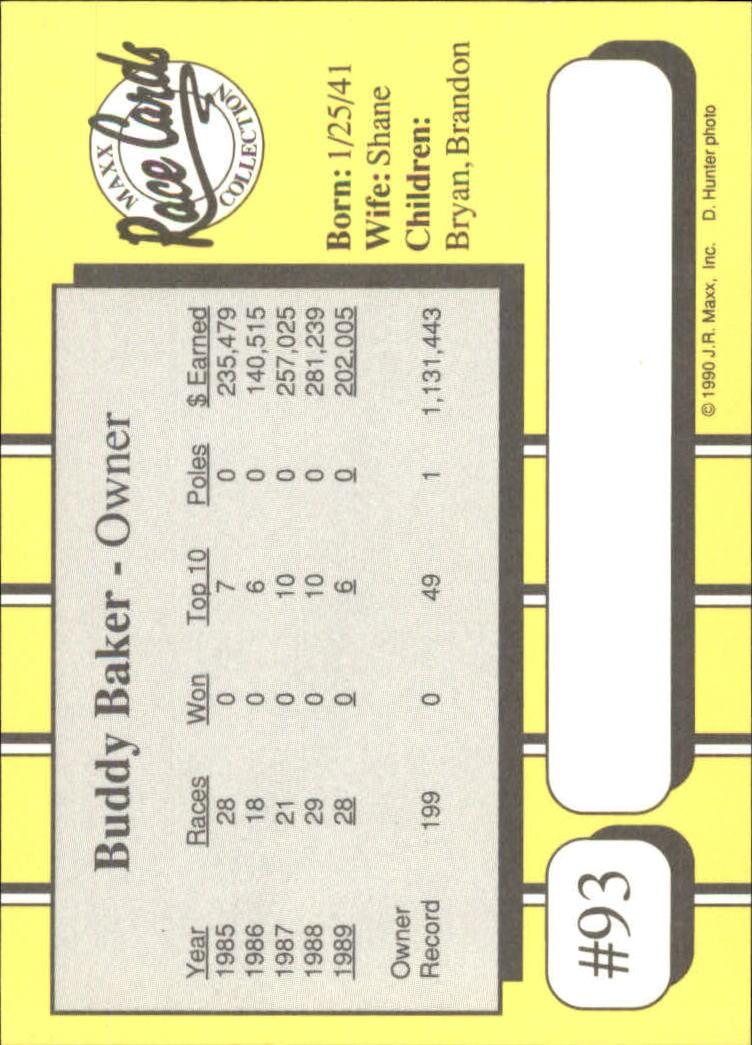 1990-Maxx-Auto-Racing-Cards-1-200-Rookies-A2695-You-Pick-10-FREE-SHIP thumbnail 187