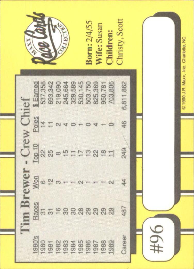 1990-Maxx-Auto-Racing-Cards-1-200-Rookies-A2695-You-Pick-10-FREE-SHIP thumbnail 193