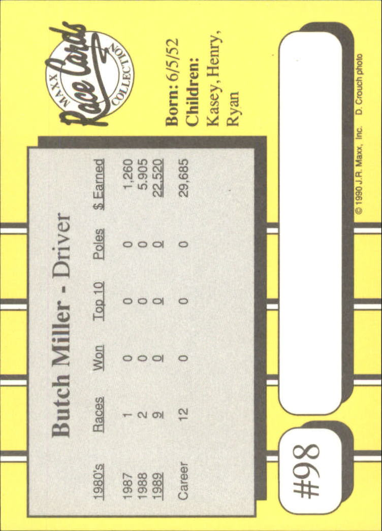1990-Maxx-Auto-Racing-Cards-1-200-Rookies-A2695-You-Pick-10-FREE-SHIP thumbnail 197