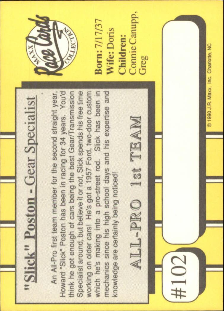 1990-Maxx-Auto-Racing-Cards-1-200-Rookies-A2695-You-Pick-10-FREE-SHIP thumbnail 205