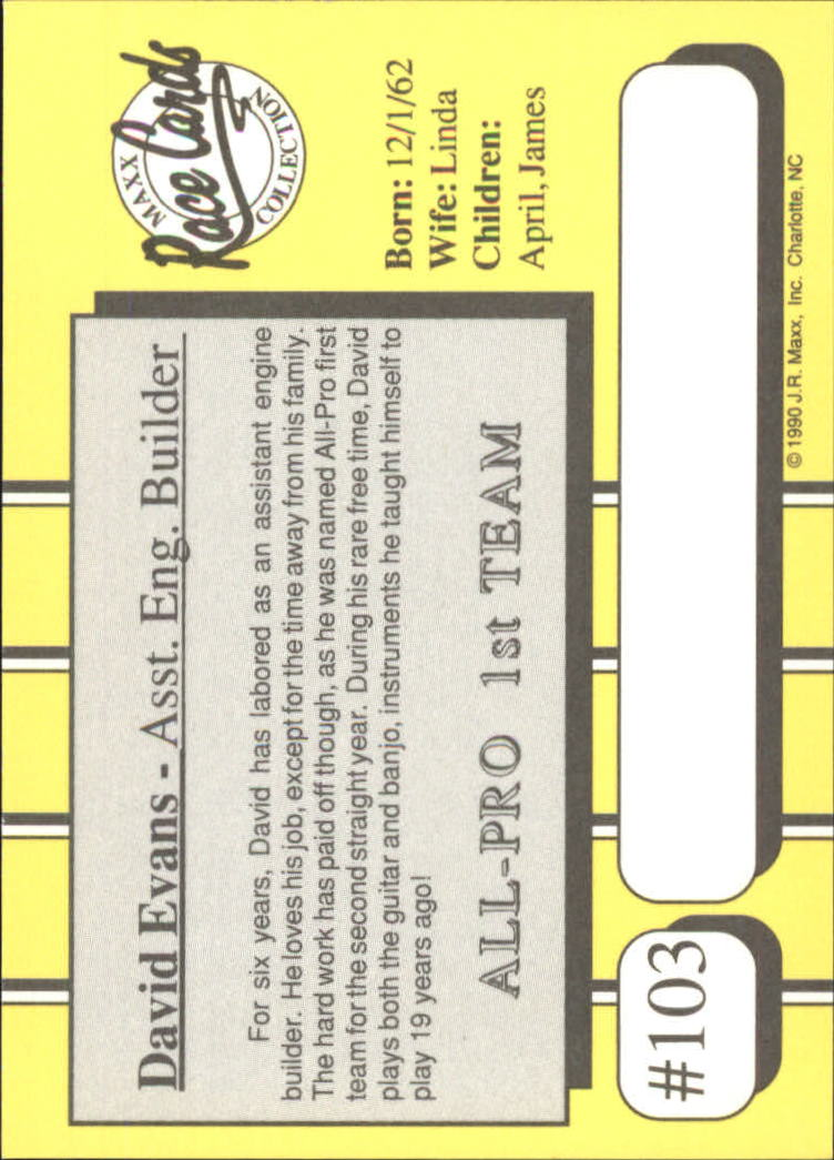 1990-Maxx-Auto-Racing-Cards-1-200-Rookies-A2695-You-Pick-10-FREE-SHIP thumbnail 207
