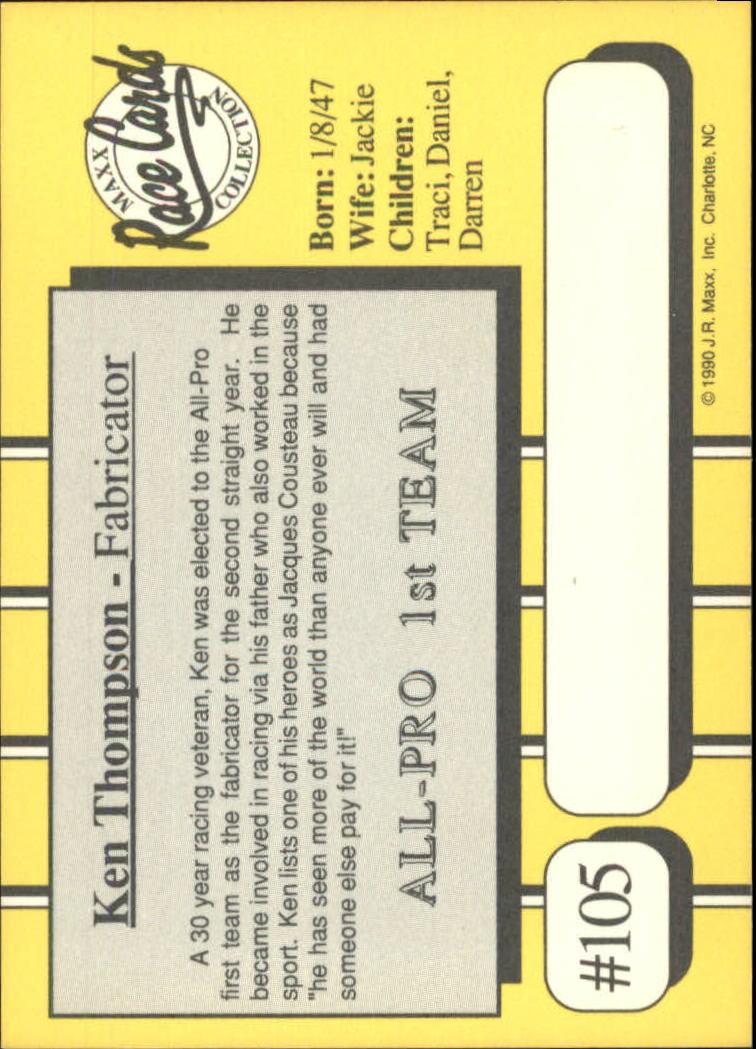 1990-Maxx-Auto-Racing-Cards-1-200-Rookies-A2695-You-Pick-10-FREE-SHIP thumbnail 211