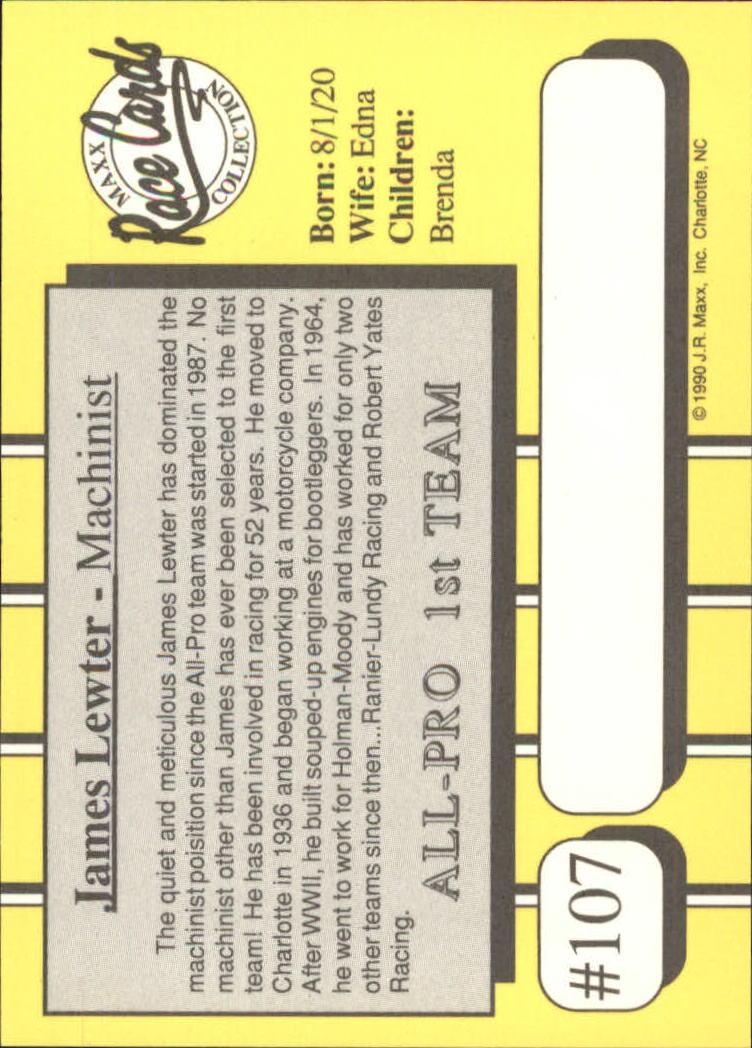 1990-Maxx-Auto-Racing-Cards-1-200-Rookies-A2695-You-Pick-10-FREE-SHIP thumbnail 215