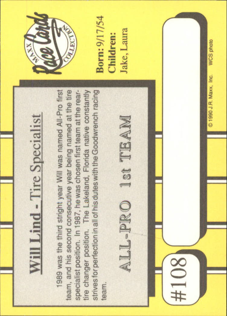 1990-Maxx-Auto-Racing-Cards-1-200-Rookies-A2695-You-Pick-10-FREE-SHIP thumbnail 217