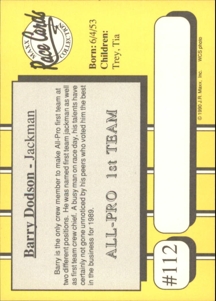1990-Maxx-Auto-Racing-Cards-1-200-Rookies-A2695-You-Pick-10-FREE-SHIP thumbnail 225