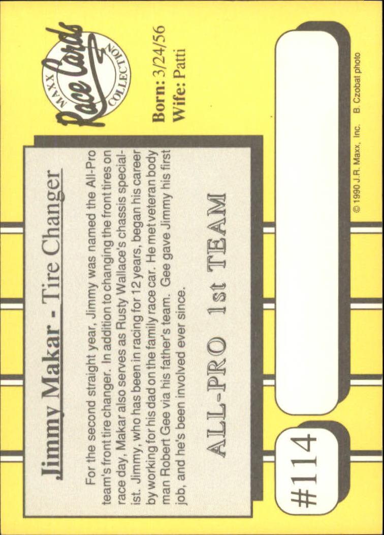 1990-Maxx-Auto-Racing-Cards-1-200-Rookies-A2695-You-Pick-10-FREE-SHIP thumbnail 229