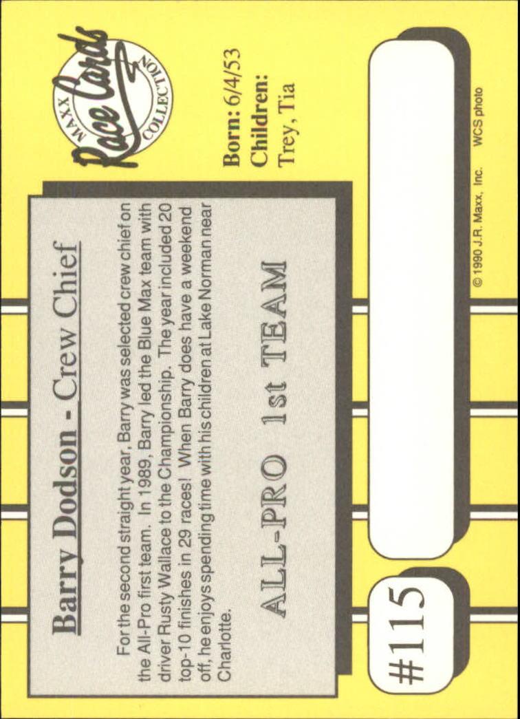 1990-Maxx-Auto-Racing-Cards-1-200-Rookies-A2695-You-Pick-10-FREE-SHIP thumbnail 231