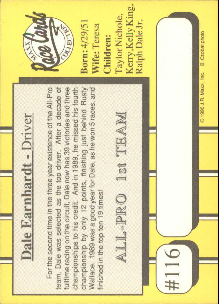 1990-Maxx-Auto-Racing-Cards-1-200-Rookies-A2695-You-Pick-10-FREE-SHIP thumbnail 233