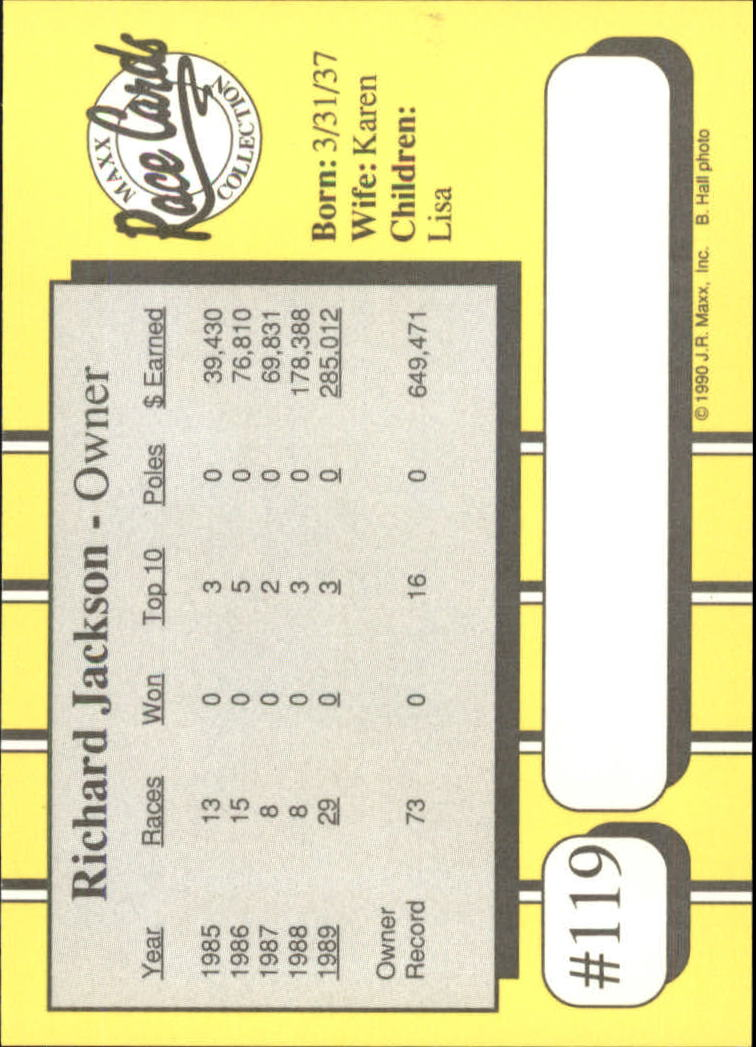 1990-Maxx-Auto-Racing-Cards-1-200-Rookies-A2695-You-Pick-10-FREE-SHIP thumbnail 239