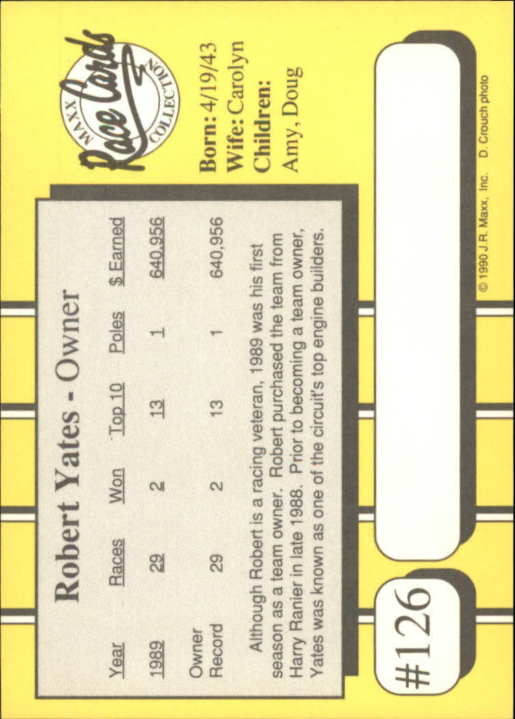 1990-Maxx-Auto-Racing-Cards-1-200-Rookies-A2695-You-Pick-10-FREE-SHIP thumbnail 255