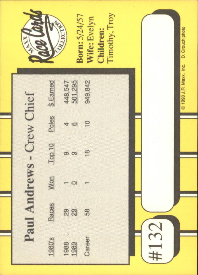 1990-Maxx-Auto-Racing-Cards-1-200-Rookies-A2695-You-Pick-10-FREE-SHIP thumbnail 263