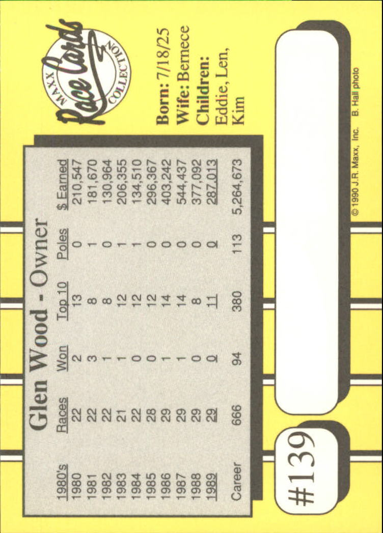 1990-Maxx-Auto-Racing-Cards-1-200-Rookies-A2695-You-Pick-10-FREE-SHIP thumbnail 277