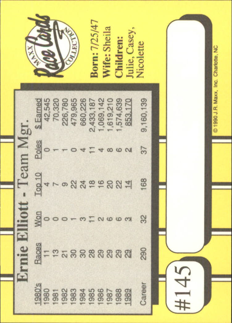 1990-Maxx-Auto-Racing-Cards-1-200-Rookies-A2695-You-Pick-10-FREE-SHIP thumbnail 289