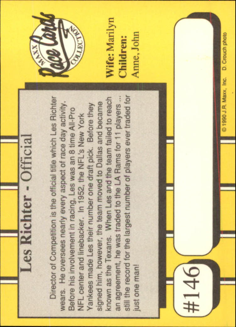 1990-Maxx-Auto-Racing-Cards-1-200-Rookies-A2695-You-Pick-10-FREE-SHIP thumbnail 291