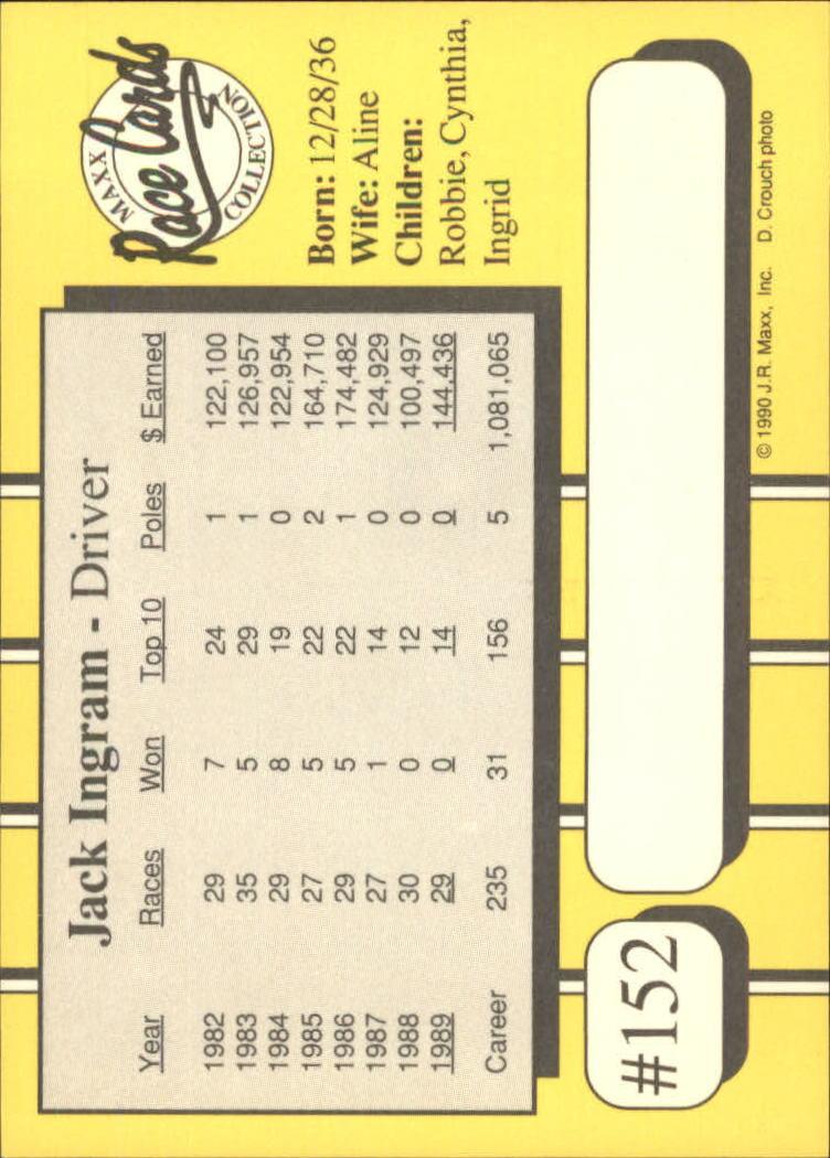 1990-Maxx-Auto-Racing-Cards-1-200-Rookies-A2695-You-Pick-10-FREE-SHIP thumbnail 303