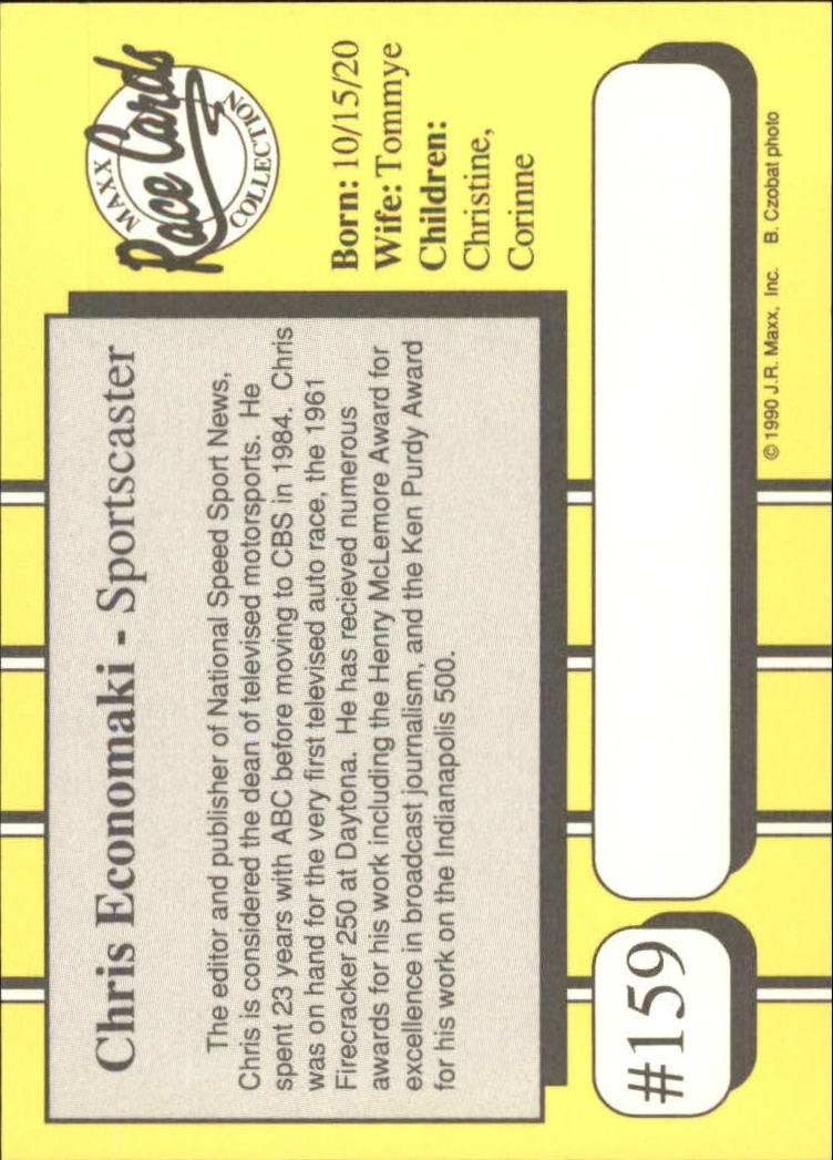 1990-Maxx-Auto-Racing-Cards-1-200-Rookies-A2695-You-Pick-10-FREE-SHIP thumbnail 317