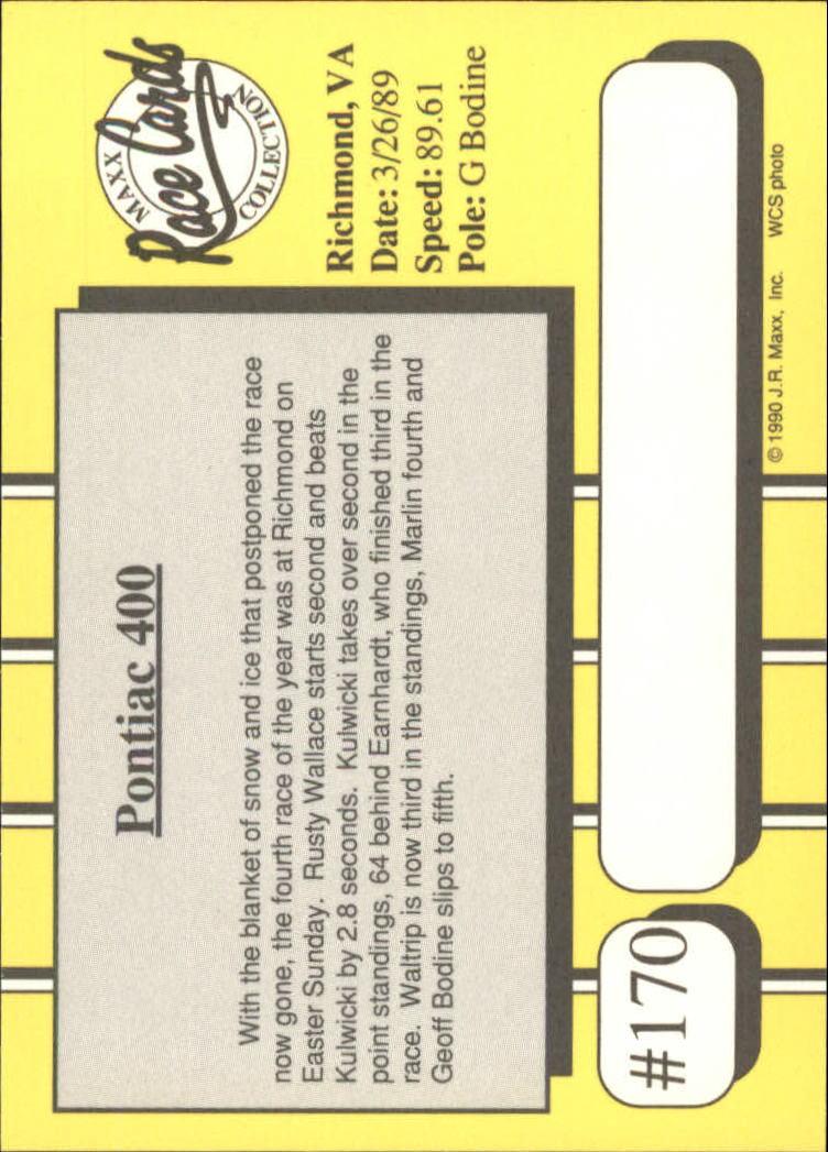 1990-Maxx-Auto-Racing-Cards-1-200-Rookies-A2695-You-Pick-10-FREE-SHIP thumbnail 339