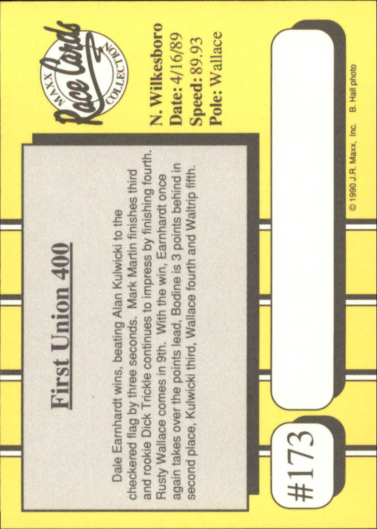 1990-Maxx-Auto-Racing-Cards-1-200-Rookies-A2695-You-Pick-10-FREE-SHIP thumbnail 345