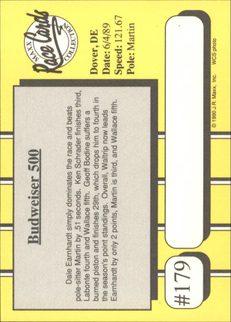 1990-Maxx-Auto-Racing-Cards-1-200-Rookies-A2695-You-Pick-10-FREE-SHIP thumbnail 357