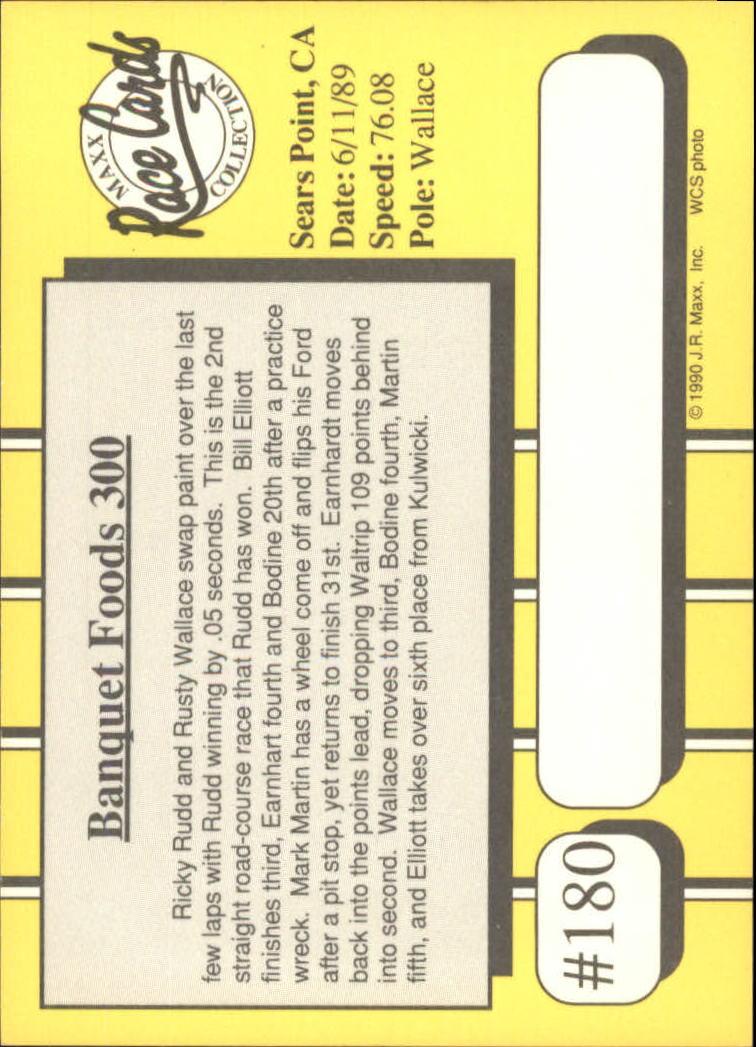 1990-Maxx-Auto-Racing-Cards-1-200-Rookies-A2695-You-Pick-10-FREE-SHIP thumbnail 359