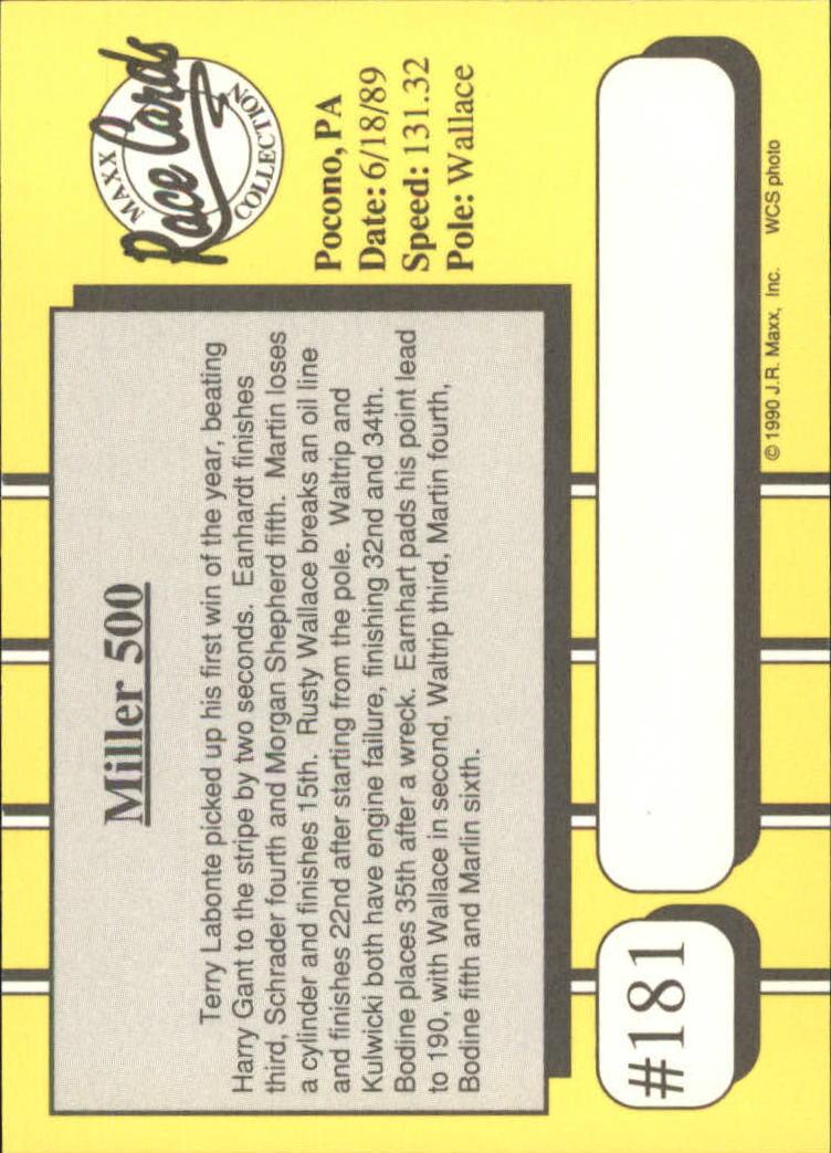 1990-Maxx-Auto-Racing-Cards-1-200-Rookies-A2695-You-Pick-10-FREE-SHIP thumbnail 361