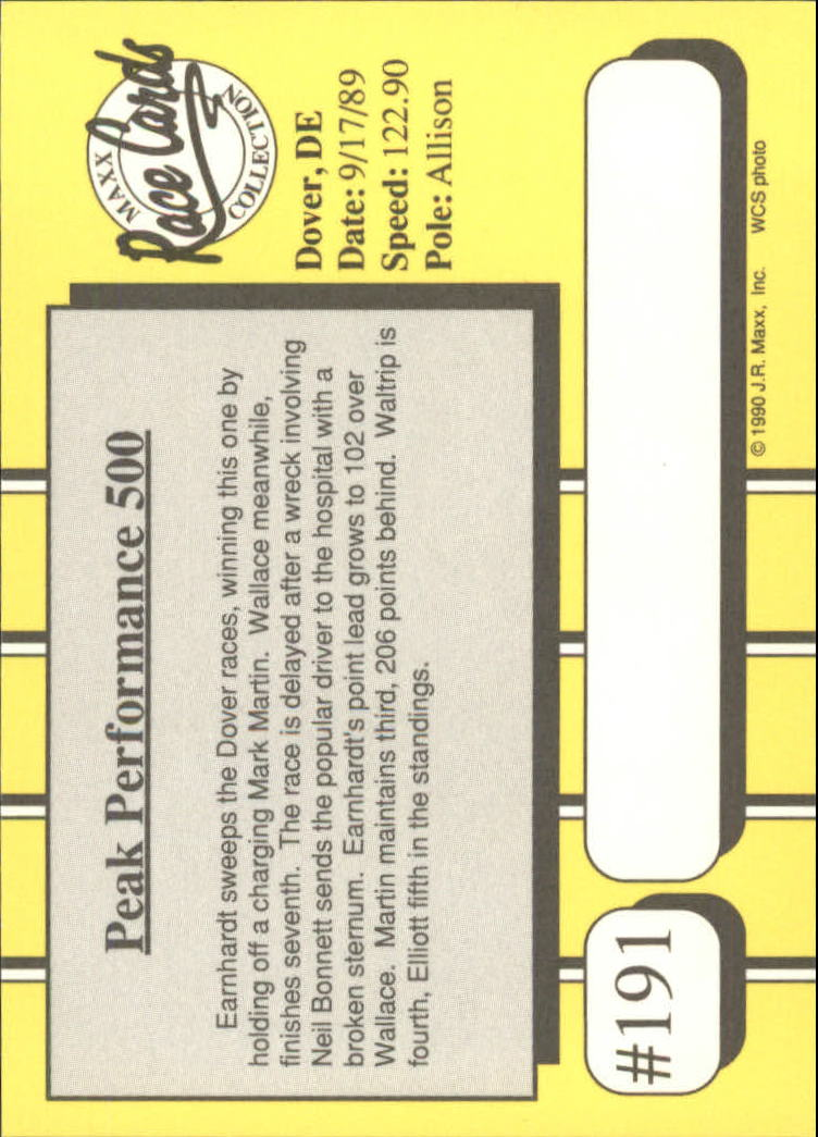 1990-Maxx-Auto-Racing-Cards-1-200-Rookies-A2695-You-Pick-10-FREE-SHIP thumbnail 381