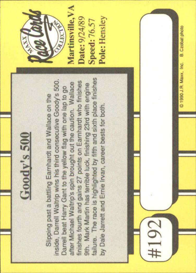 1990-Maxx-Auto-Racing-Cards-1-200-Rookies-A2695-You-Pick-10-FREE-SHIP thumbnail 383