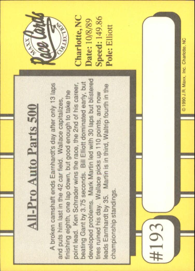 1990-Maxx-Auto-Racing-Cards-1-200-Rookies-A2695-You-Pick-10-FREE-SHIP thumbnail 385