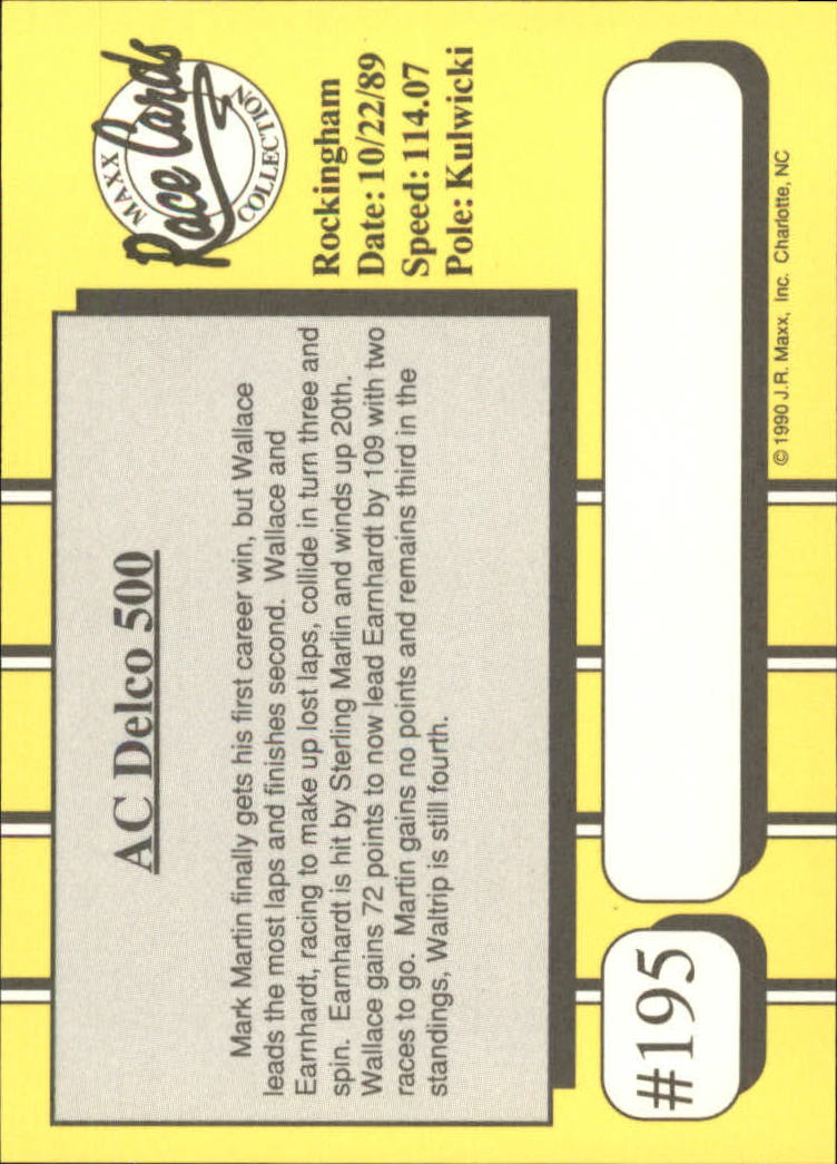 1990-Maxx-Auto-Racing-Cards-1-200-Rookies-A2695-You-Pick-10-FREE-SHIP thumbnail 389
