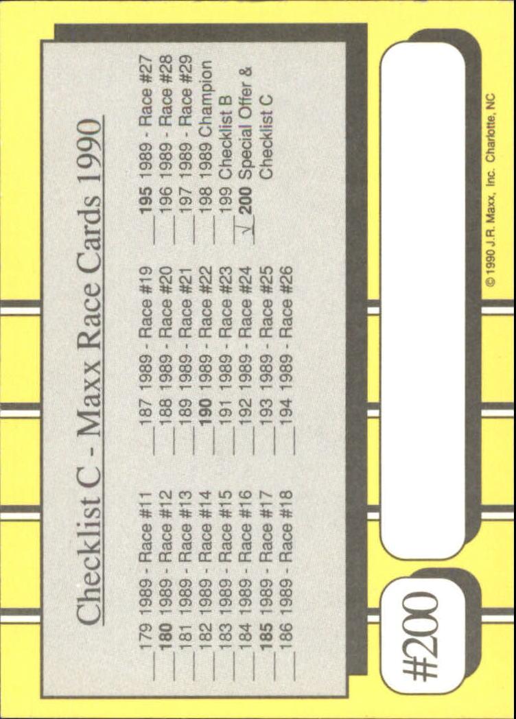 1990-Maxx-Auto-Racing-Cards-1-200-Rookies-A2695-You-Pick-10-FREE-SHIP thumbnail 399
