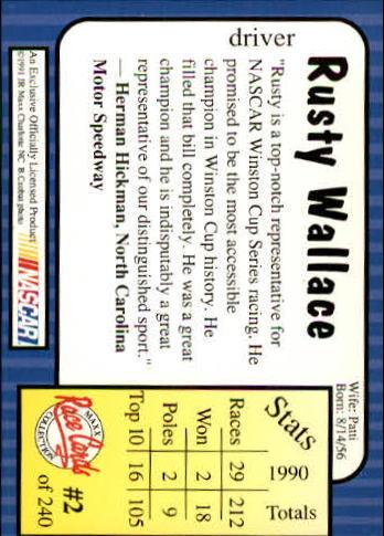 1991-Maxx-Auto-Racing-Cards-1-240-Rookies-A2705-You-Pick-10-FREE-SHIP thumbnail 5
