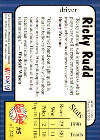 1991-Maxx-Auto-Racing-Cards-1-240-Rookies-A2705-You-Pick-10-FREE-SHIP thumbnail 11