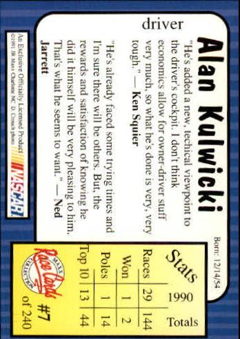 1991-Maxx-Auto-Racing-Cards-1-240-Rookies-A2705-You-Pick-10-FREE-SHIP thumbnail 15