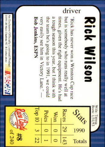 1991-Maxx-Auto-Racing-Cards-1-240-Rookies-A2705-You-Pick-10-FREE-SHIP thumbnail 17