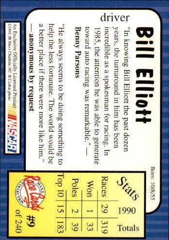 1991-Maxx-Auto-Racing-Cards-1-240-Rookies-A2705-You-Pick-10-FREE-SHIP thumbnail 19