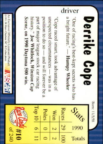 1991-Maxx-Auto-Racing-Cards-1-240-Rookies-A2705-You-Pick-10-FREE-SHIP thumbnail 21