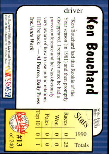1991-Maxx-Auto-Racing-Cards-1-240-Rookies-A2705-You-Pick-10-FREE-SHIP thumbnail 27