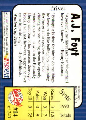 1991-Maxx-Auto-Racing-Cards-1-240-Rookies-A2705-You-Pick-10-FREE-SHIP thumbnail 29