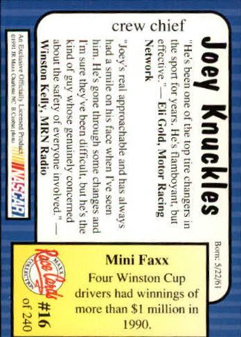 1991-Maxx-Auto-Racing-Cards-1-240-Rookies-A2705-You-Pick-10-FREE-SHIP thumbnail 33