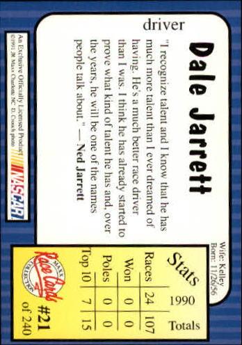1991-Maxx-Auto-Racing-Cards-1-240-Rookies-A2705-You-Pick-10-FREE-SHIP thumbnail 43