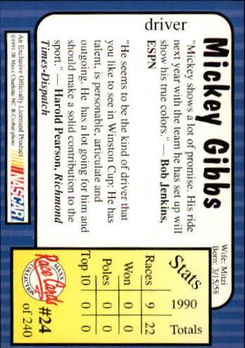 1991-Maxx-Auto-Racing-Cards-1-240-Rookies-A2705-You-Pick-10-FREE-SHIP thumbnail 49