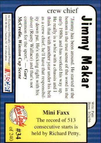 1991-Maxx-Auto-Racing-Cards-1-240-Rookies-A2705-You-Pick-10-FREE-SHIP thumbnail 69