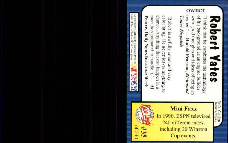 1991-Maxx-Auto-Racing-Cards-1-240-Rookies-A2705-You-Pick-10-FREE-SHIP thumbnail 71