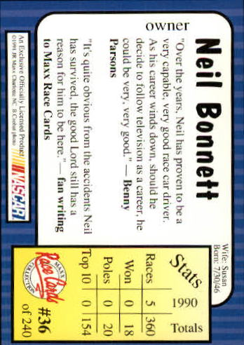 1991-Maxx-Auto-Racing-Cards-1-240-Rookies-A2705-You-Pick-10-FREE-SHIP thumbnail 73
