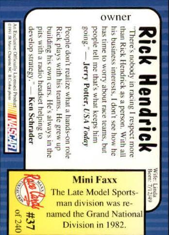1991-Maxx-Auto-Racing-Cards-1-240-Rookies-A2705-You-Pick-10-FREE-SHIP thumbnail 75